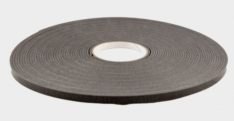ZKZ zelfklevend glasband zwart. lengte 25 meter.