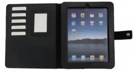 iPad map van zwart leder