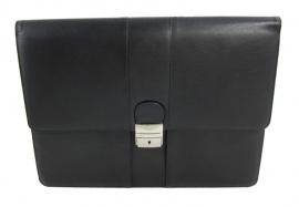 Attache tas zwart van nappa leder