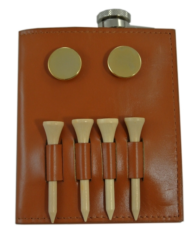 Heupflacon / golf pouch met scorenboekje