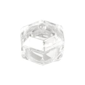 Kristallen Dappendish met deksel