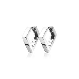 ZINZI zilveren luxe oorringen vierkante buis driehoekvorm 18x2,5mm ZIO1684