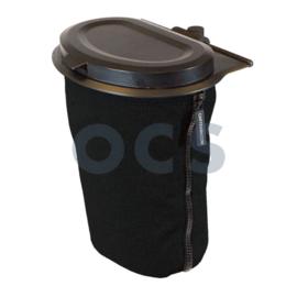 Flextrash deksel en tas S 3l zwart