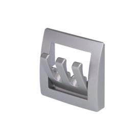 standaard kapstok, opvouwbaar zilver 3 - tands
