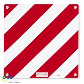 Fiamma Gevarenplaat aluminium rood/wit
