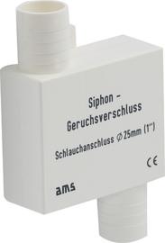 Sifon stankafsluiter met inlaat en uitlaat 25 mm