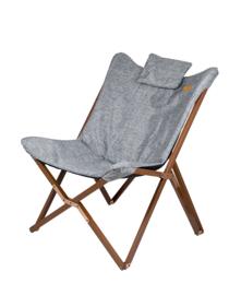 Bo-Camp relaxstoel Bloomsbury grijs