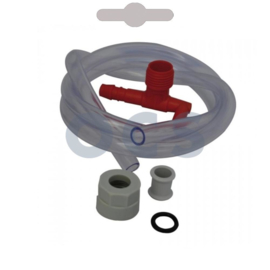 Haakse wateraansluiting met beluchting