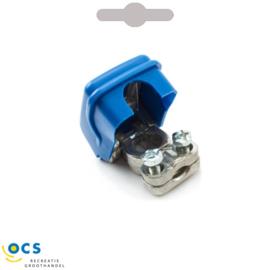 Accupoolklem- met snelsluiting kunststof blauw