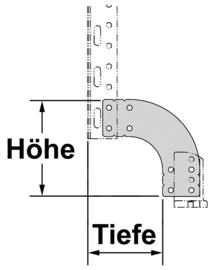 standaard rekkensysteem voor garages achteraan - compensatieplaat (0 - 7,3 cm x 4,1 - 6,6 cm)