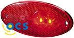 Zijlicht Inbouw Rood LED