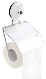 toiletrolhouder met zuignap wit