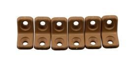 meubelverbinder kunststof beugel 6 stuks bruin