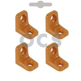 Meubelverbinder beige kunststof à 4 stuks.