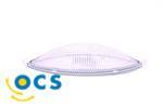 Lamphuis van kunststof, helder glas model opbouw. afm. 250x85mm, 12V-10 Watt kleur wit