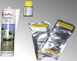 lijmset Dekalin DEKAsyl MS-5 290 ml wit voor twee voetprofilsets