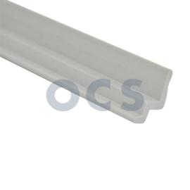 Tafelbladrail. Kunststof grijs 600mm