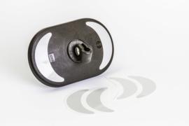 EMUK reflectorkit bestaande uit 4 reflectorstickers voor spiegelkoppen