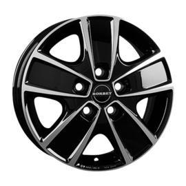 BORBET Lichtmetalen velg 6.0 x 16 inch, Fiat Ducato Light zwart gepolijst