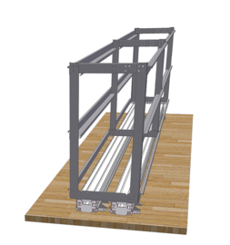 Weih-tec garagesysteem achterin Load Move - 2 planken