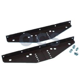 Tafelbladdrager lift-tafelpoot bruin