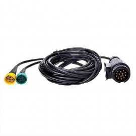 Kabelset 5M met stekker 13-polig en 2x connector 5-polig