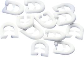 gordijnglijder voor T-rail wit, 25 stuks