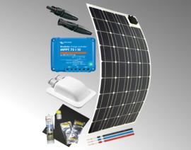 Solarset flexibe 120 Watt voor camper/caravan 12V