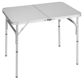 BRUNNER tafel Bayla 4 aluminium lichtgrijs 120 x 70 cm met handvat
