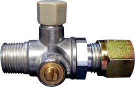 standaard Testklep met afsluiter 3/8 'conisch x 8 mm SRV