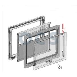 Dometic Klapraam glas 70x50