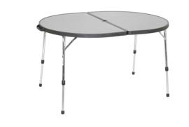 CRESPO dubbele tafel ovaal aluminium