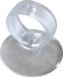 TECON COVERCRAFT doorzichtige zuignap 37 mm met trekring set van 10