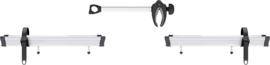 THULE Uitbreidingsset voor 3e wiel inclusief afstandsstuk voor Caravan Superb (zilver)