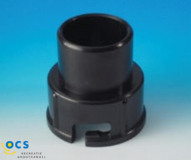 Slangaansluiting 40mm voor schuif 37mm.