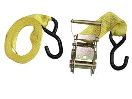 Spanband met ratel, 3,5 cm breed, geel