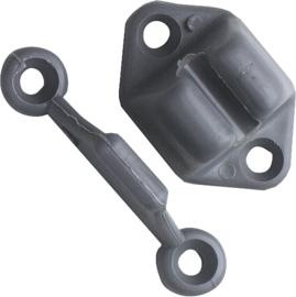 FAWO deurvanger, 2 stuks grijs