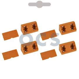 Hoekverbinder beige + kap pvc à 4 st.