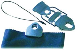 ROPE BRAID Tornado clip met rubberen stropdas zwart