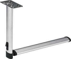 FAWO Gelede steunpoot van aluminium (lichtgrijs, RAL 7035)