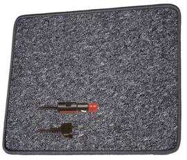 PRO CAR verwarmingsmat, antraciet (12 volt, 60 x 40 cm)