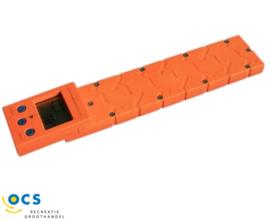 Electronische caravanweger Geschikt voor caravans tot 1500kg. Kleur oranje.
