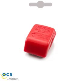 Accupoolklem+ met snelsluiting kunststof rood