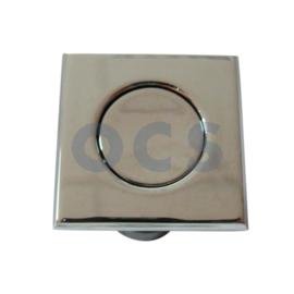 Vierkante push lock chroom 34x34 mm