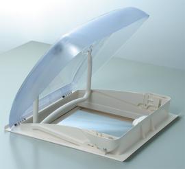 dakluik 40 x 40 cm Mini Heki Style, met ventilatie Dakdikte 25 - 42 mm