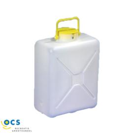 Jerrycan 14 of 16 liter smal voor dompelpomp, lxbxh 28x17x40,0cm.