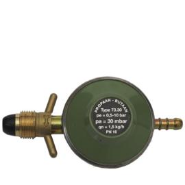 Gimeg POL soft noze gasdrukregelaar met slangpilaar 30mb 1,5kg/h