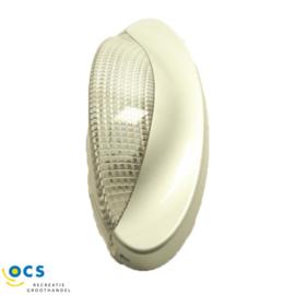 Voortentlamp Wave zilver LED 8.5x24.5 cm