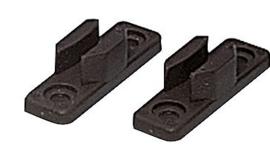 standaard haakplaat, 2 stuks zwart