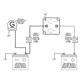 Smart duo accu laadstroomverdeler 12V/140A
